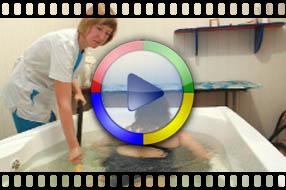 Процедура антицеллюлитного подводного гидромассажа